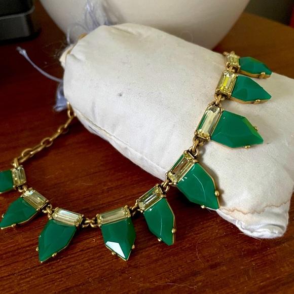 Stella & Dot emerald stones necklace